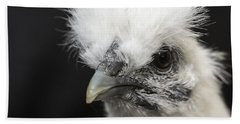 Silkie Chicken Portrait Hand Towel