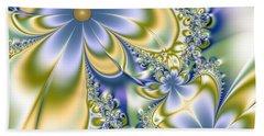 Silky Flowers Hand Towel by Svetlana Nikolova