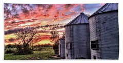 Silo Sunset Hand Towel