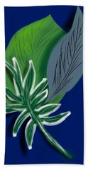 Hand Towel featuring the digital art Silver Leaf And Fern II by Christine Fournier