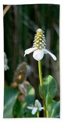 Simple Flower Hand Towel by Laurel Powell