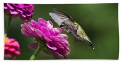 Bath Towel featuring the photograph Simple Pleasure Hummingbird Delight by Christina Rollo