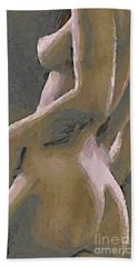 Hand Towel featuring the painting Simply Naked by Dragica  Micki Fortuna