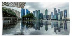 Singapore Cityscape Bath Towel
