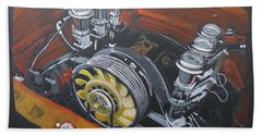 Singer Porsche Engine Bath Towel