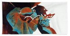 Singing Frog Duet 2 Hand Towel