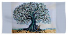 Singing Under The Blues Tree Hand Towel