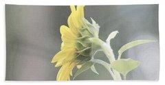 Single Sunflower Hand Towel