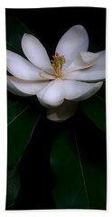 Sweet White Magnolia Bloom Hand Towel