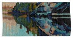 Singleton Cliffs Bath Towel by Phil Chadwick