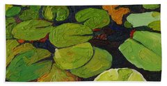 Singleton Lily Pads Hand Towel by Phil Chadwick