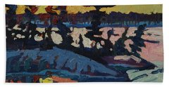 Singleton Sunset Hand Towel by Phil Chadwick