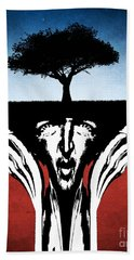 Hand Towel featuring the digital art Sir Real by Phil Perkins