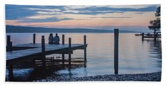 Sisters - Lakeside Living At Sunset Bath Towel by Photographic Arts And Design Studio