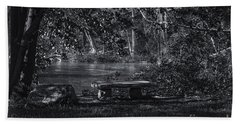 Hand Towel featuring the photograph Sit And Ponder by Mark Myhaver