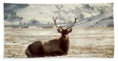Sitting Bull Elk Bath Towel