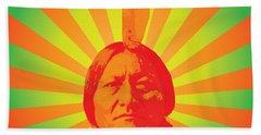 Sitting Bull Hand Towel by Gary Grayson