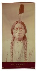Sitting Bull, Sioux Chief, C.1885 Bw Photo Hand Towel
