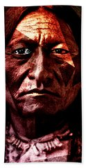 Sitting Bull - Warrior - Medicine Man Bath Towel