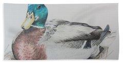 Sitting Duck Bath Towel by Laurianna Taylor