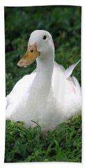 Sitting Duck Bath Towel by Pamela Walton