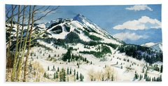 Skiers Paradise Hand Towel