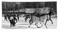Skijoring At Lake Placid Bath Towel