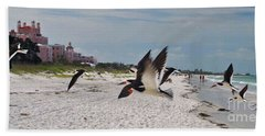 Black Skimmers At Don Cesar Hand Towel