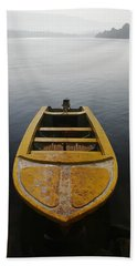Hand Towel featuring the photograph Skc 0042 Calmness Anchored by Sunil Kapadia