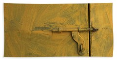 Bath Towel featuring the photograph Skc 0047 The Door Latch by Sunil Kapadia