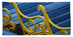 Bath Towel featuring the photograph Skc 0246 The Garden Benches by Sunil Kapadia