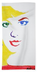Hand Towel featuring the painting Blonde Mother Nature by Stormm Bradshaw