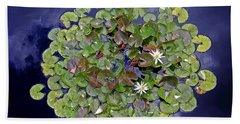 Sky Lilies Hand Towel by Zafer Gurel