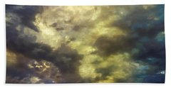 Hand Towel featuring the photograph Sky Moods - Abstract by Glenn McCarthy Art and Photography