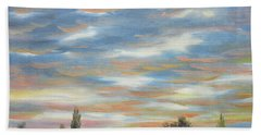 Hand Towel featuring the painting Sky by Vesna Martinjak