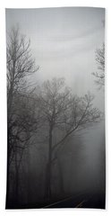 Skyline Drive In Fog Bath Towel by Greg Reed