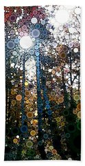 Skyway Forest At Dawn Hand Towel by Linda Bailey
