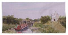 Slapton Lock Hand Towel by Martin Howard