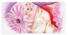 Sleeping Baby Hand Towel
