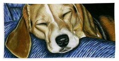 Sleeping Beagle Hand Towel