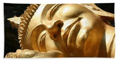 Hand Towel featuring the photograph Sleeping Buddha by Nola Lee Kelsey