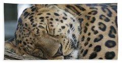 Sleeping Leopard Bath Towel