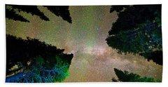 Sleeping Under The  Milky Way Stars Hand Towel