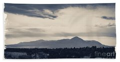 Sleeping Ute Mountain Bath Towel