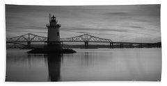 Sleepy Hollow Lighthouse Bw Bath Towel