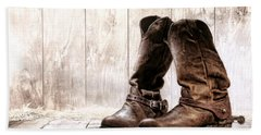 Slouch Cowboy Boots Hand Towel