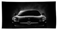 Bath Towel featuring the digital art Sls Black by Douglas Pittman