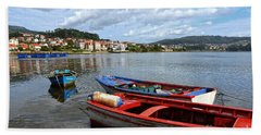 Small Boats In Galicia Hand Towel