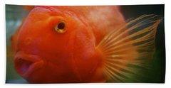 Smiling Gold Fish Hand Towel