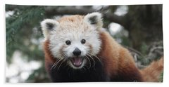 Smiling Red Panda Hand Towel